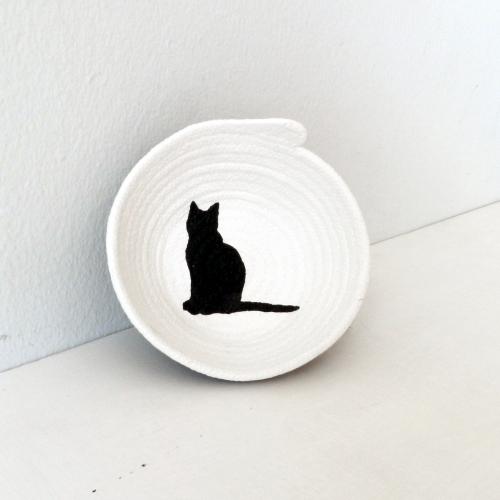 Schale aus Baumwollseil | Caroline Rager | Katze klein