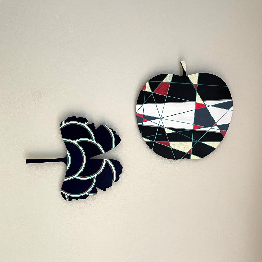 Ginko und Apfel Objekte, Caroline Rager